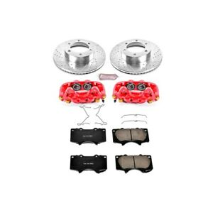 Kc2324 Powerstop Brake Disc And Caliper Kits 2 Wheel Set Front For Toyota Tundra