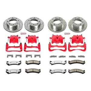 Kc2073 36 Powerstop Brake Disc And Caliper Kits 4 Wheel Set Front Rear For Gmc