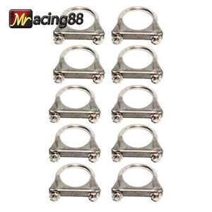 10pcs 2 id Exhaust Tail Pipe Ss T201 U Bolt Clamp Heavy Duty Brand New