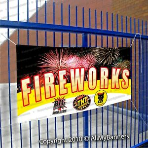 Fireworks Custom Brands Any Logo Sign Strong Vinyl Banner Outdoors Usa Made Thm