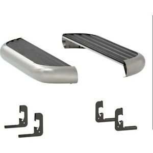575054 570711 Luverne Set Of 2 Running Boards New Polished For Chevy Gmc Pair