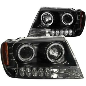 111043 Anzo Headlight Lamp Driver Passenger Side New Lh Rh For Grand Cherokee
