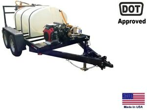 Sprayer Commercial Trailer Mounted Electric Reel 500 Gallon Highway Ready