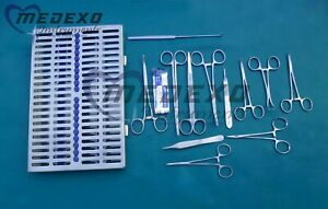 General Surgery 30 Pcs Set Of Veterinary Animal Hospital Surgical Instruments