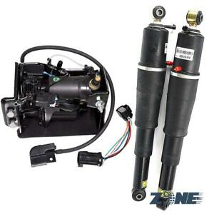 2 Pcs Air Suspension Shocks Compressor Pump For Escalade Suburban Tahoe Yukon