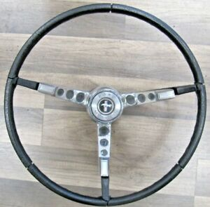 1965 66 Ford Mustang Gt Fastback Convertible Steering Wheel Chrome Horn Pad