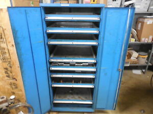 Lista 8 Drawer Industrial Tooling Cabinet 28 X 29 5 X 64 Modular Parts Storage
