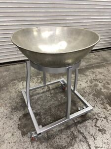 31 Round Breading Mixing Bowl Cart 4015 Heavy Duty Food Prep Icing Marinate