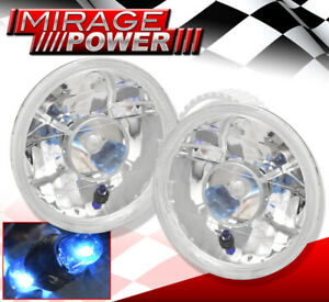 Universal 7 Round Sealed Glass Lens Halo Led Ring Headlamp Lights Assembly Fogs