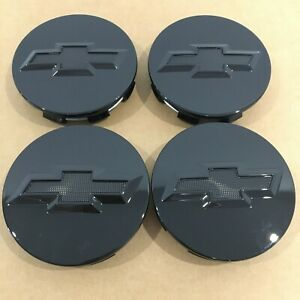 4pcs Gloss Black Studded Wheel Center Caps 3 25 Hubcap Cover 83mm Fit For Chevy