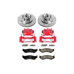 Kc1916 Powerstop Brake Disc And Caliper Kits 2 Wheel Set Front For F150 Truck