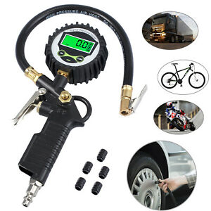 200 Psi Digital Tire Inflator Pressure Gauge Air Chuck Compressor Accessories Us