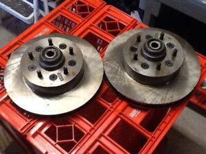 1965 1966 1967 1968 Corvette Original Front Wheel Hubs With New Rotors