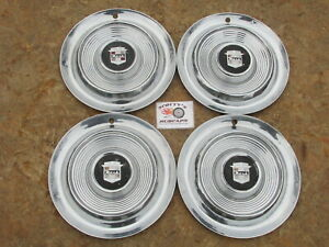 1957 Nash Ambassador 14 Wheel Covers Hubcaps Set Of 4