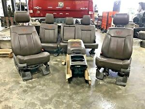 2011 2016 Ford F250 F350 Superduty King Ranch Seats Complete Set With Console