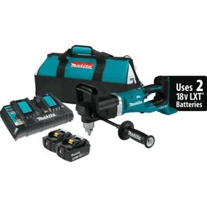 Makita Cordless 1 2 Inch Right Angle Drill Kit 18 Volt X2 Lith Ion Brushless