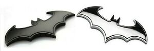 3 D Batman Auto Emblem Metal Chrome Auto Truck Car Bumper Label Emblem Lot Of 2