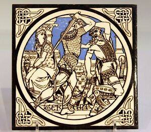 Antique Minton Pottery Tile King Arthur Idylls Of The English Romantic Aesthetic