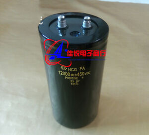 New Electrolytic Capacitor 12000uf 450v 75x220mm