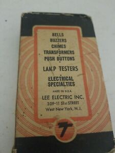 Vintage Tonepack Bell Buzzers Chimes Transformer Push Buttons No 101
