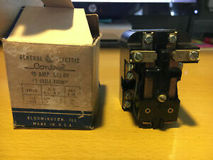 New In Box General Electric 10 Amp 2 Pole 6 Vac Coil Relay Cr2790e100a27