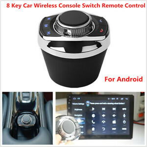 8 Key Car Console Switch Stereo Gps Remote Controller Button Android W led Light