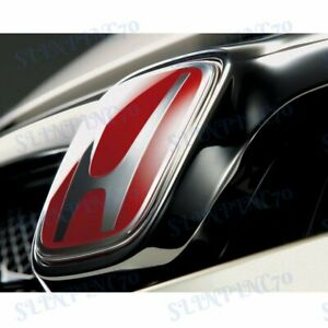 New Red Jdm H Emblem 2pcs Set Front Rear For Civic Si Coupe 2012 2013