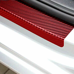 Parts Accessories Carbon Fiber Red Car Door Sill Scuff Plate Sticker Protector