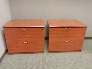 Two 2 drawer Lateral Files With Locks