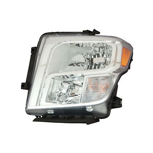 Ni2502250 New Replacement Driver Headlight Assembly Fits 2017 2019 Nissan Titan