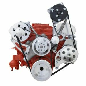 Small Block Chevy Serpentine Conversion Kit High Mount 283 305 327 350 400 Sbc