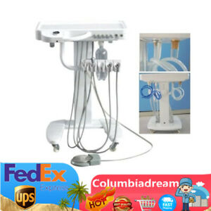 Portable Mobile Dental Delivery Unit System Cart Treatment Equipment 4 Hole 545w