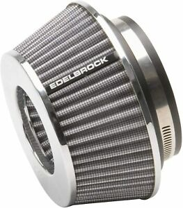Edelbrock 43612 Pro flo Universal Conical Air Filter 3 7 Fits 3 3 5 4