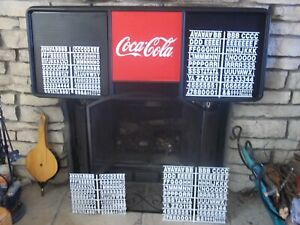 4ft Coca-Cola Menu Board Sign w/4 sets of letters,numbers & symbols!