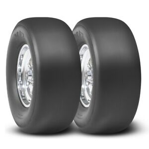 2 Mickey Thompson Pro Bracket Radial Tires Et Drag Slick 28x10 5r 15 Pair