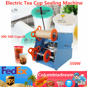 Electric Plastic Drink Tea Cups Sealing Machine Bubble Sealer For 17cm Cup Hot
