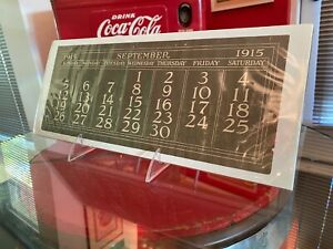 Coca Cola 1915 September Page for Elaine Calendar From Allan Petretti