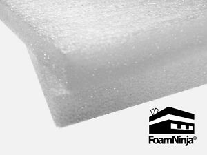Polyethylene Foam Case Shipping Packaging 48 Pack 1 x 12 x 12 White 1 7 Pcf