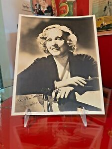 Coca Cola 1930s Madge Evans Signed Autographed Photo From Allan Petretti