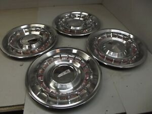 1961 Oldsmobile Hubcaps Olds 88 98 Wheel Hub Caps