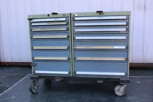 Used Bott 7 Drawer Cabinets Industrial Tool Storage W 4 Wheeled Stand