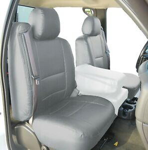 Chevy Silverado 2003 2006 Grey S Leather Custom Custom Made 2 Front Seat Covers