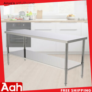 Stainless Steel 72 Commercial Kitchen Work Food Prep Table Kitchen Restaurant