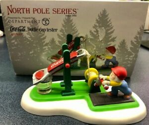 Department 56 North Pole Series Coca-Cola Bottle Cap Tester accessory 4058083