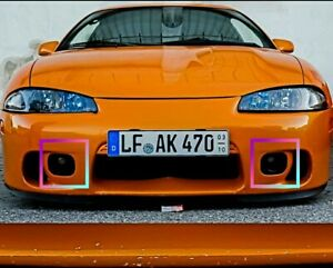 2g Mitsubishi Eclipse Dsm Fog Light Covers Bezels 1996 1999 2 Bezels
