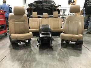 2011 2016 Ford F250 F350 Super Duty Front Rear Driver Pass Seat Console Leather