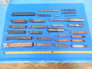 29pcs Lot Of Carbide Brazed Other Tool Holders For Southbend Bridgeport Mill