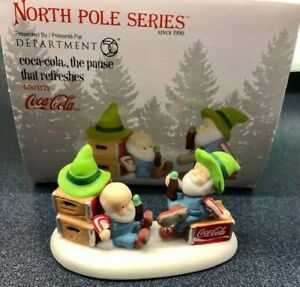 Department 56 North Pole Series Coca-Cola the Pause that Refreshes accessory