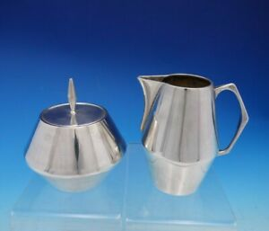 Diamond By Reed And Barton Sterling Silver Sugar And Creamer Set 2pc 4647