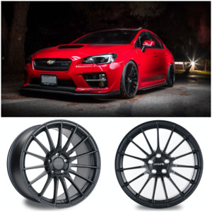 Ambit Monoblock Forged Re02 f Wheels Gunmetal 18x9 5 38 5x114 Sti Wrx Rs05rr